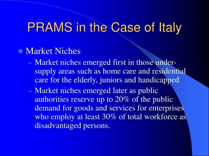 PRAMS in the Case of Italy