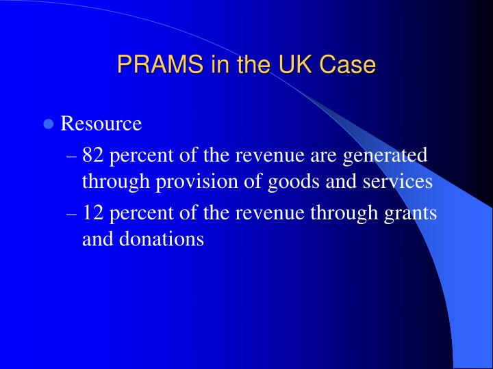 PRAMS in the UK Case