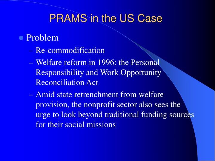 PRAMS in the US Case