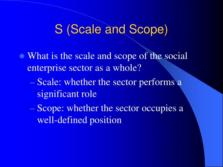 S (Scale and Scope)