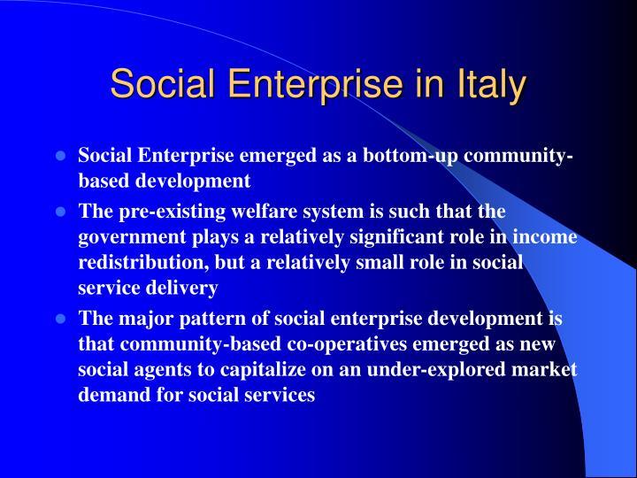 Social Enterprise in Italy