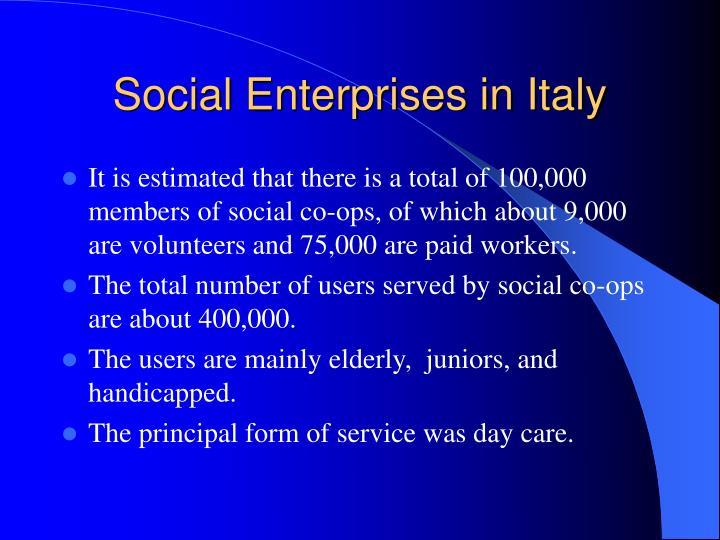 Social Enterprises in Italy