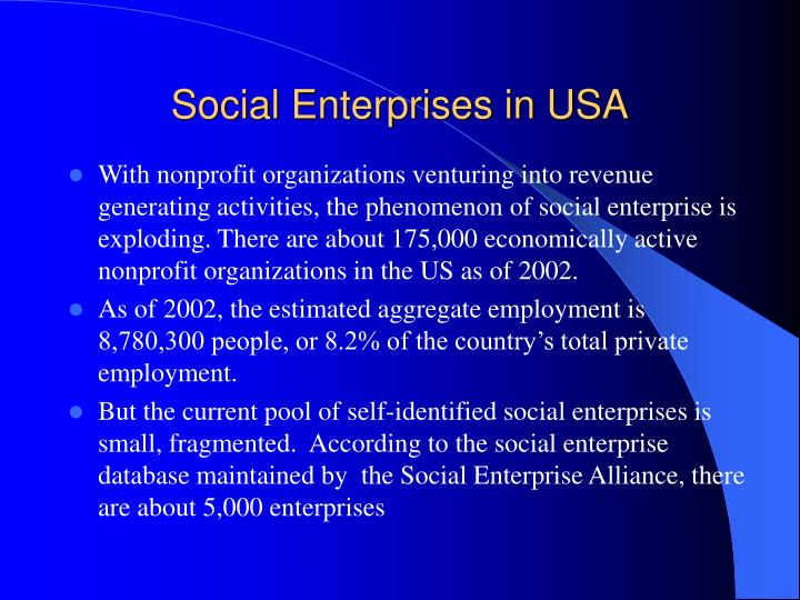 Social Enterprises in USA
