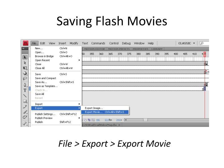 Saving Flash Movies