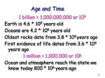 age and time