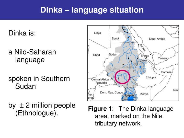 Dinka – language situation