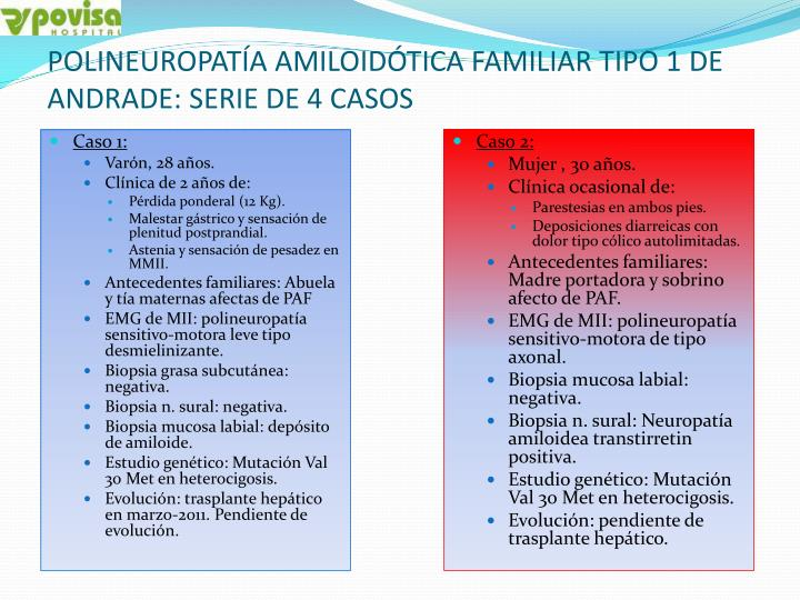 Polineuropat a amiloid tica familiar tipo 1 de andrade serie de 4 casos2