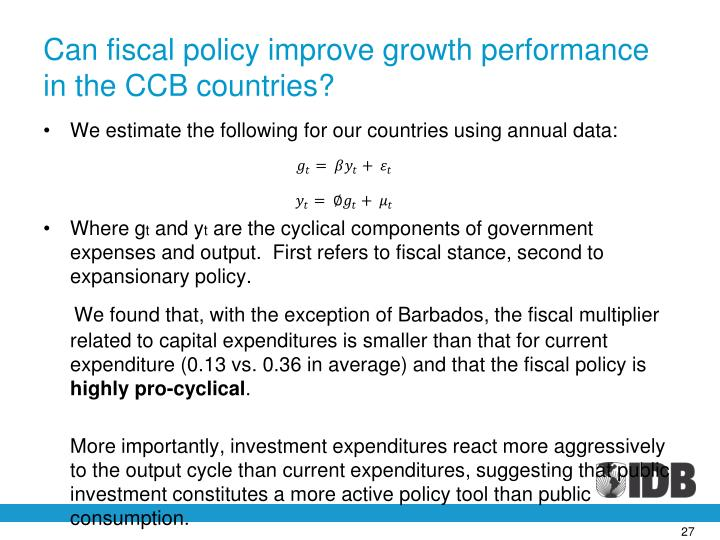 Can fiscal policy improve growth performance in the CCB countries?