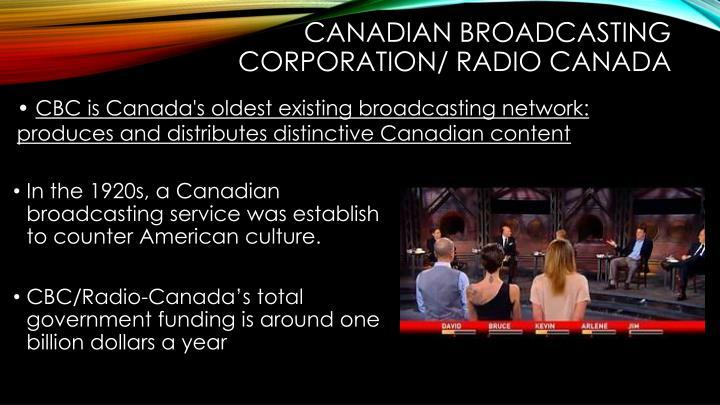 Canadian Broadcasting Corporation/ Radio Canada