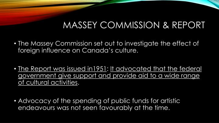 Massey commission & Report