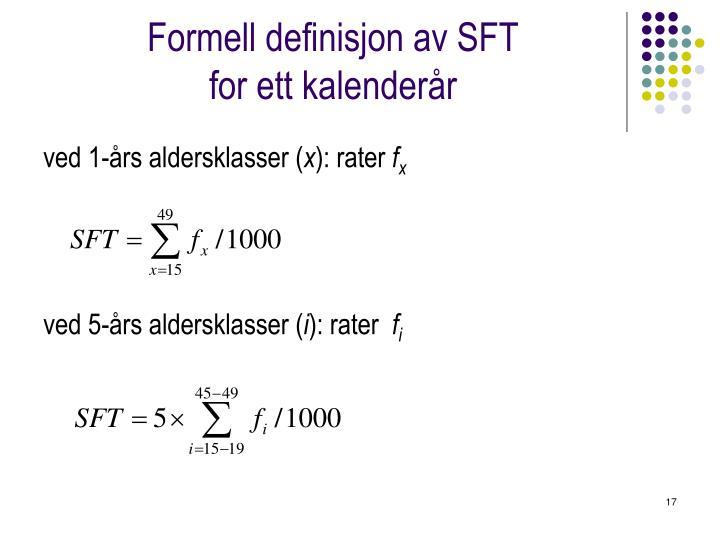 Formell definisjon av SFT