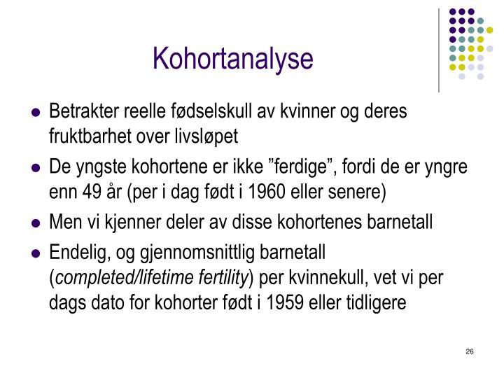 Kohortanalyse