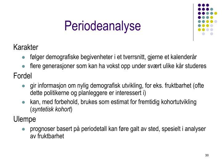 Periodeanalyse