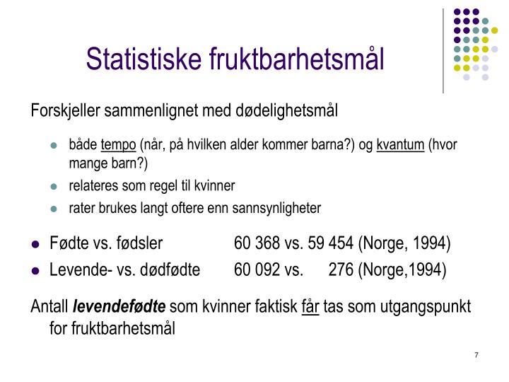 Statistiske fruktbarhetsmål