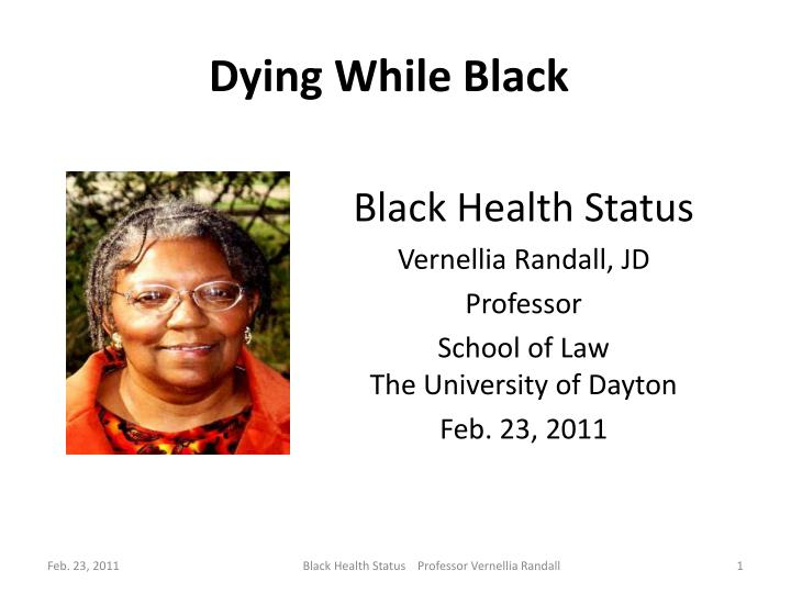 dying while black n.