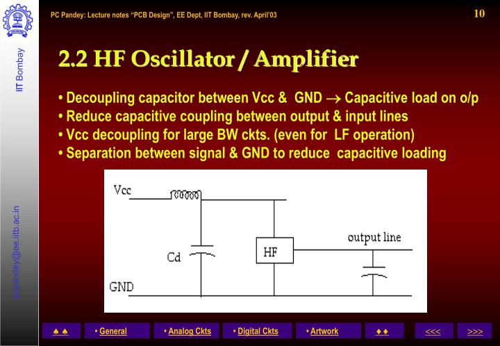 2.2 HF Oscillator / Amplifier