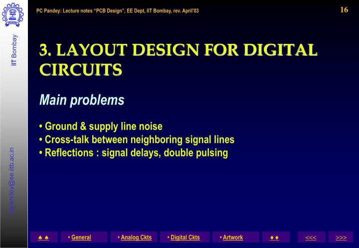 3. LAYOUT DESIGN FOR DIGITAL CIRCUITS