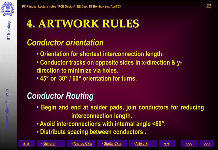 4. ARTWORK RULES