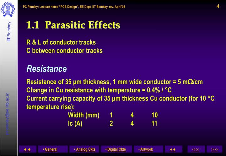 1.1  Parasitic Effects