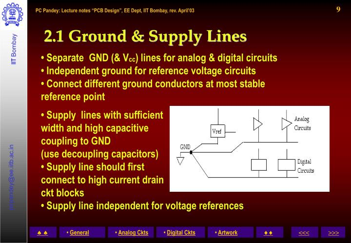 2.1 Ground & Supply Lines