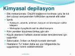 kimyasal depilasyon