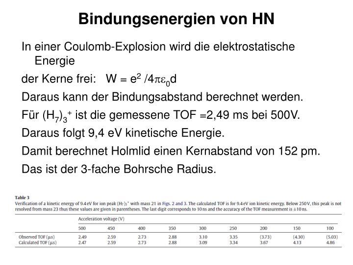 In einer Coulomb-Explosion wird die elektrostatische Energie