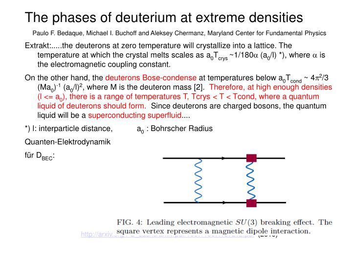 The phases of deuterium at extreme densities