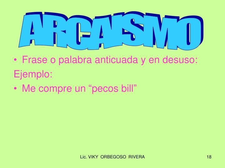 ARCAISMO