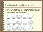 multivariate profiles cont