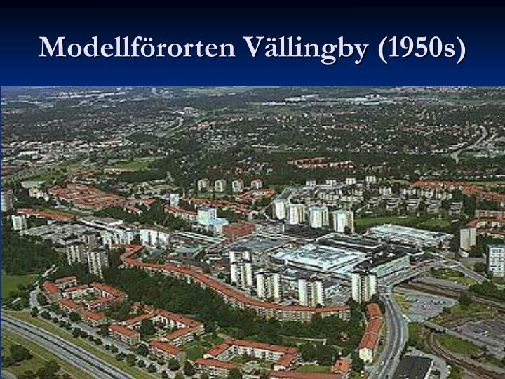 Modellförorten Vällingby (1950s)
