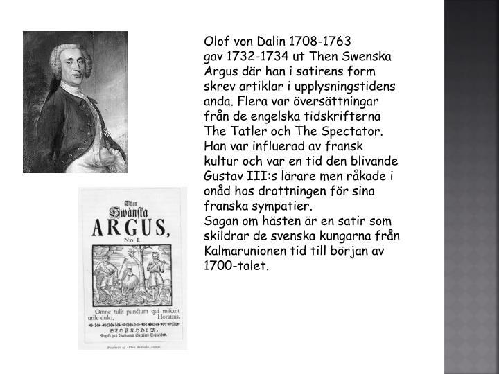 Olof von Dalin 1708-1763
