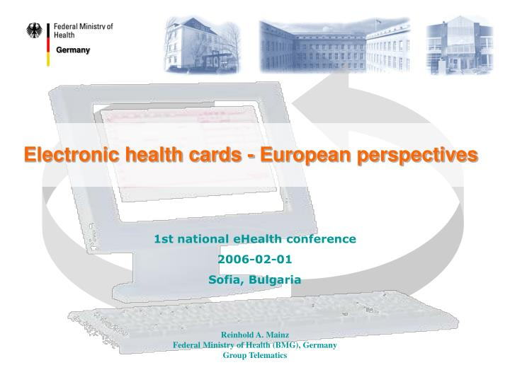 electronic health cards european perspectives n.