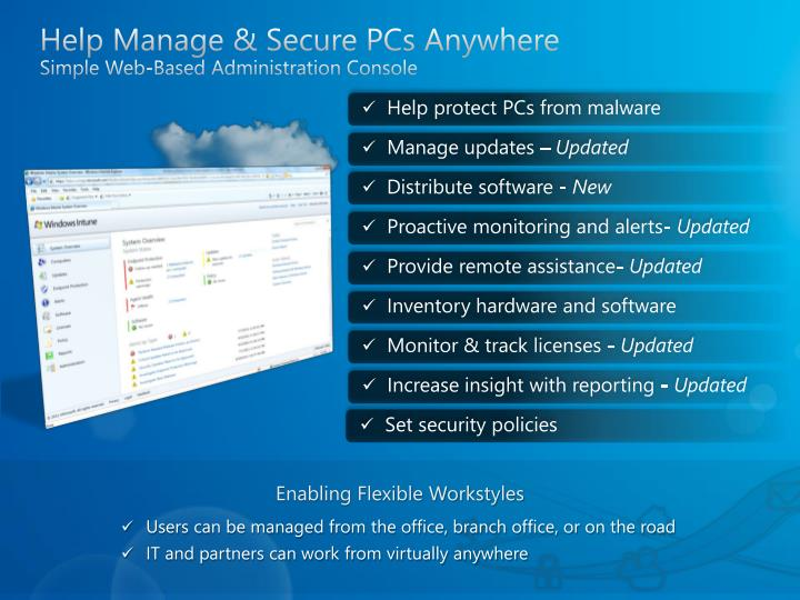 Help Manage & Secure PCs Anywhere