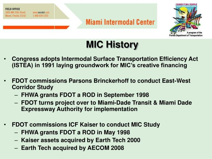 MIC History