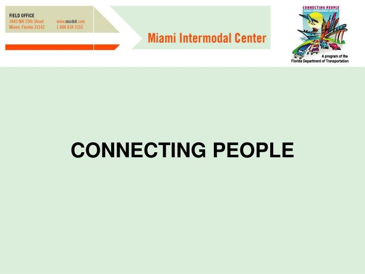 CONNECTING PEOPLE