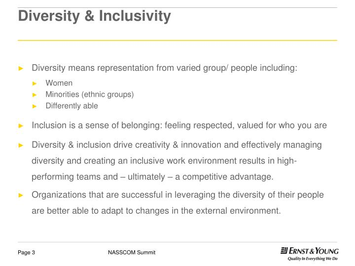 Diversity inclusivity