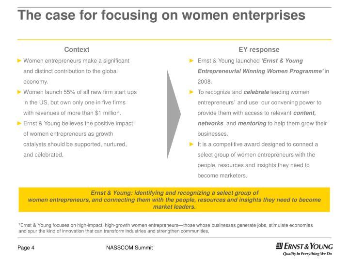The case for focusing on women enterprises