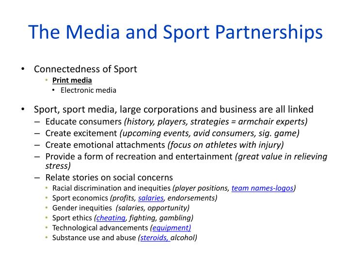 The media and sport partnerships