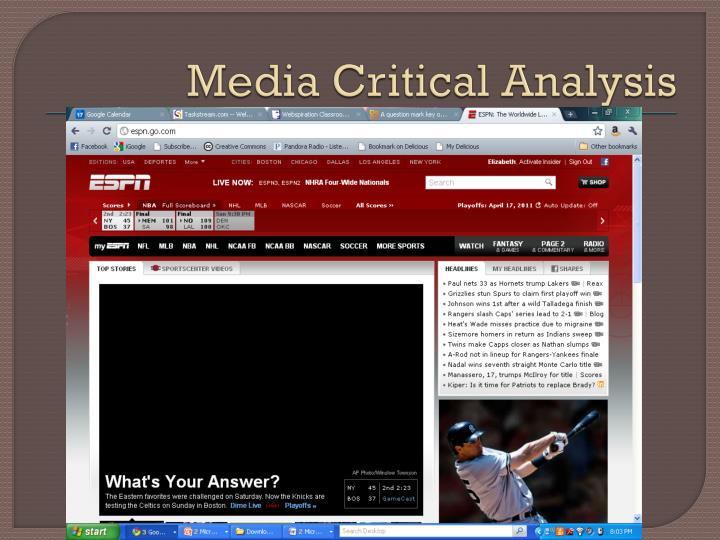 Media Critical Analysis