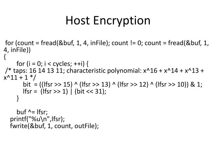 Host Encryption