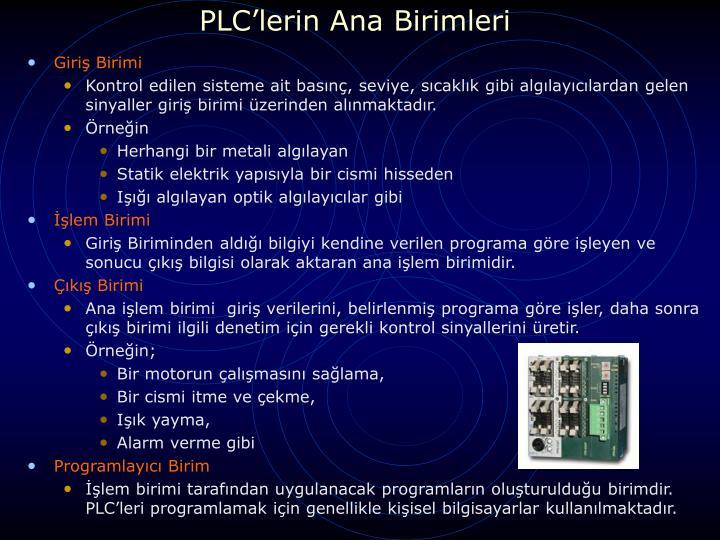 PLC'lerin Ana Birimleri