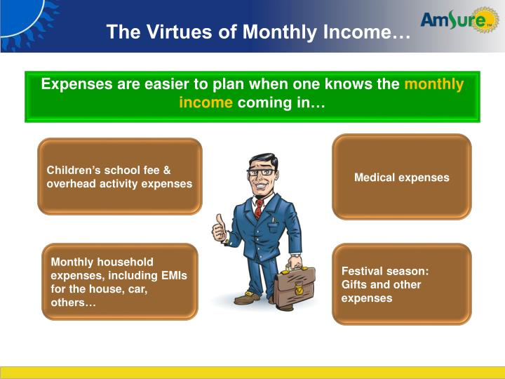 The Virtues of Monthly Income…