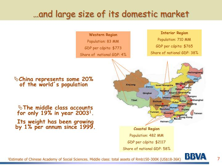 …and large size of its domestic market