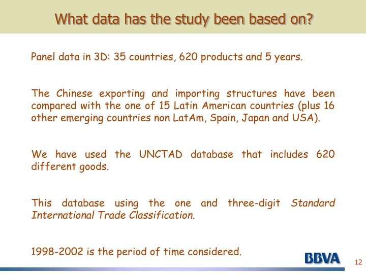 What data has the study been based on?
