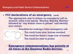 emergency and public service communications t8a3