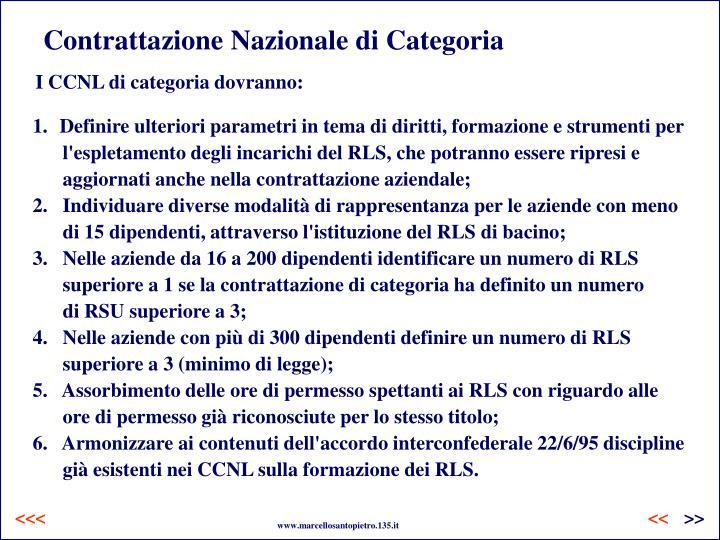 Contrattazione Nazionale di Categoria