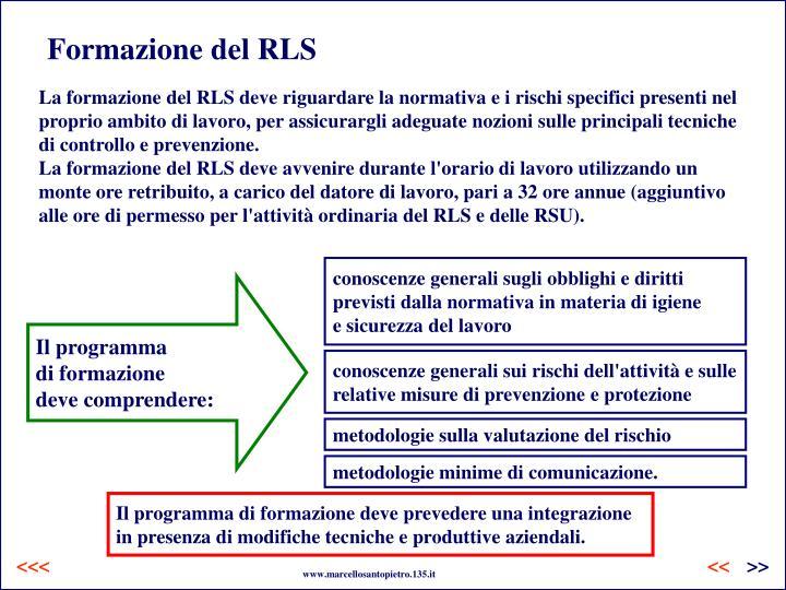 Formazione del RLS