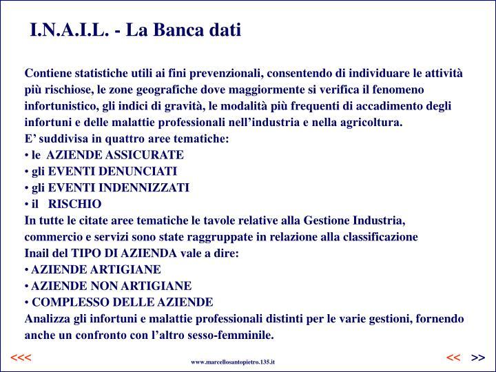 I.N.A.I.L. - La Banca dati