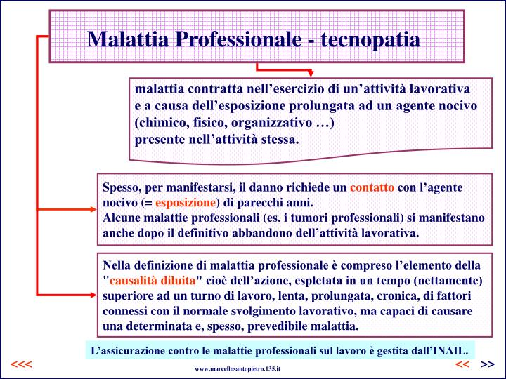 Malattia Professionale - tecnopatia