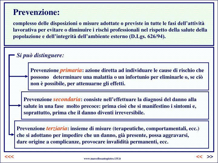 Prevenzione: